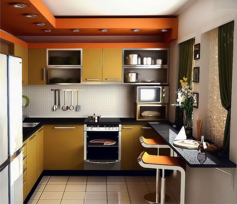 Современные маленькие кухни дизайн